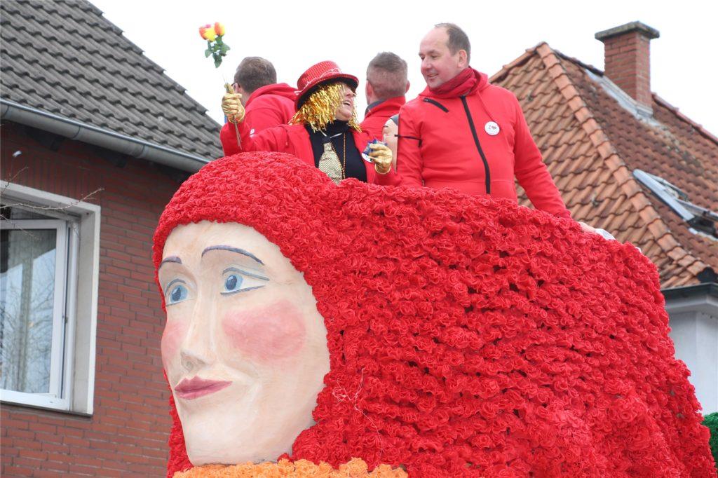 Eine Meerjungfrau hatte die SPD mit in den Zug genommen.