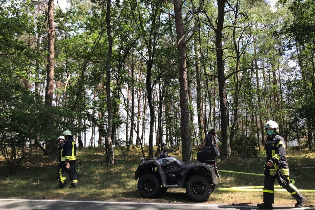 Auch die Quadstaffel der Feuerwehr ist wieder im Einsatz.
