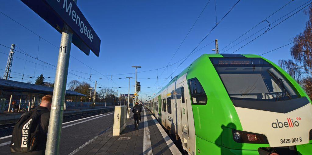 Aufgrund von Bauarbeiten im Dortmunder Hauptbahnhof starten und enden die Züge der Regionalbahn 32 am Wochenende am Bahnhof Mengede.