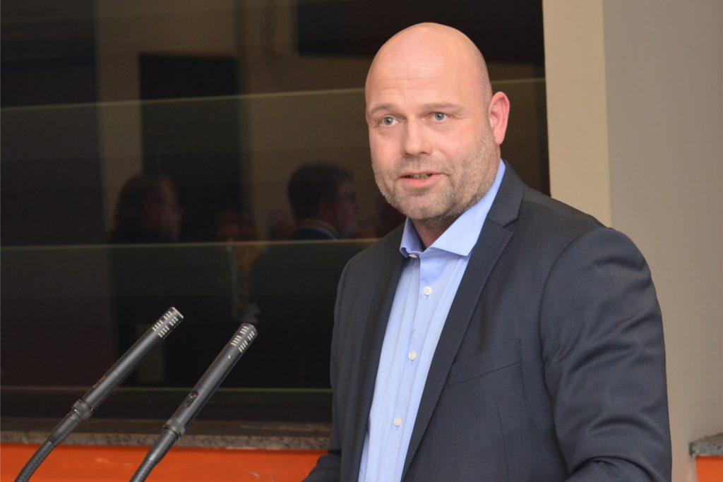 CDU-Bürgermeister-Kandidat Oliver Lind setzt mit seiner Partei auf Sicherheit und Ordnung.
