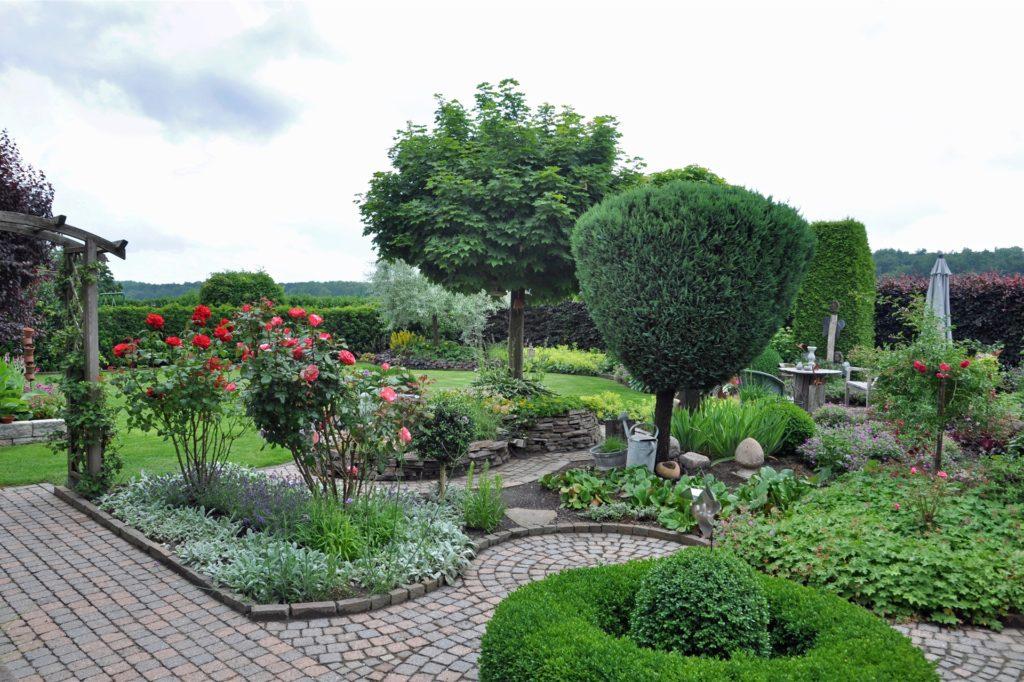 Ein Blick in den Garten von Annegret Kersting.