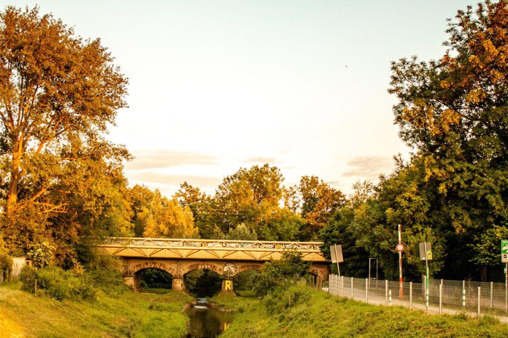 Ein letzter Blick auf die Seseke und die Eisenbahnbrücke, danach geht es zurück nach Hause.