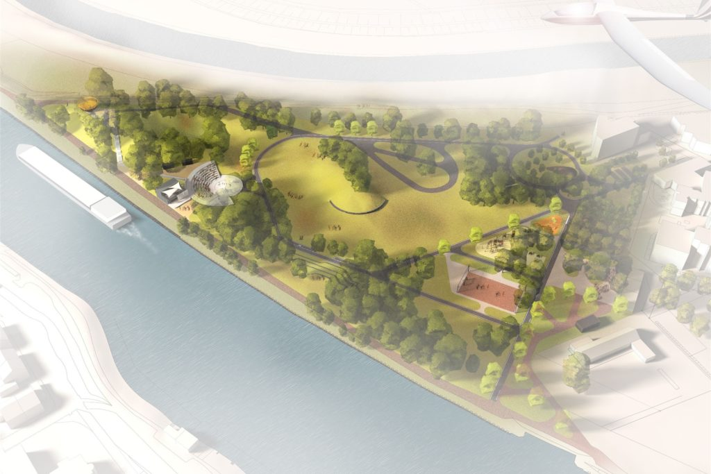 Nach Plänen des Landschaftsarchitekten Dirk Vennemann wird der Bürgerpark in den nächsten Monaten umgestaltet.