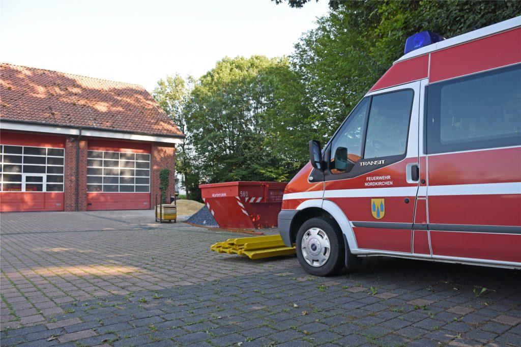 Die Gemeinde modernisiert zurzeit das Feuerwehrgerätehaus in Nordkirchen.