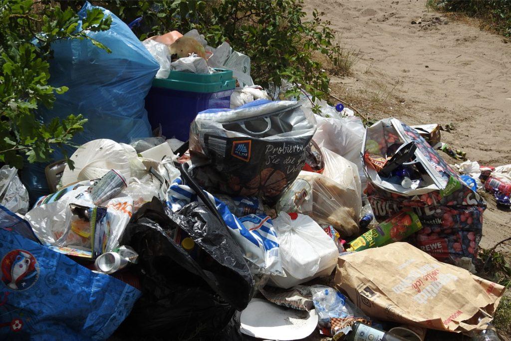 So viel Müll wie in diesem Jahr lag noch nie im Nordbereich am Silbersee II.