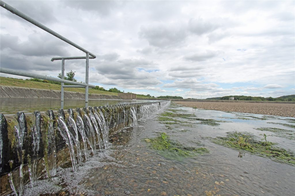 Ein Kiesbecken im Wasserwerk in Hengsen.