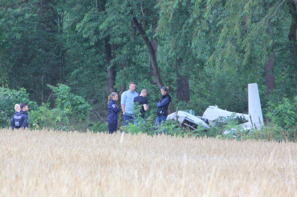 Der zweite Segelflieger stürzte gut 200 Meter weiter am Waldrand ab.