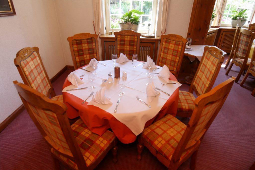 """Ein Blick ins Restaurant """"Gute Stube"""" im Welcome-Hotel im Dorf Münsterland"""