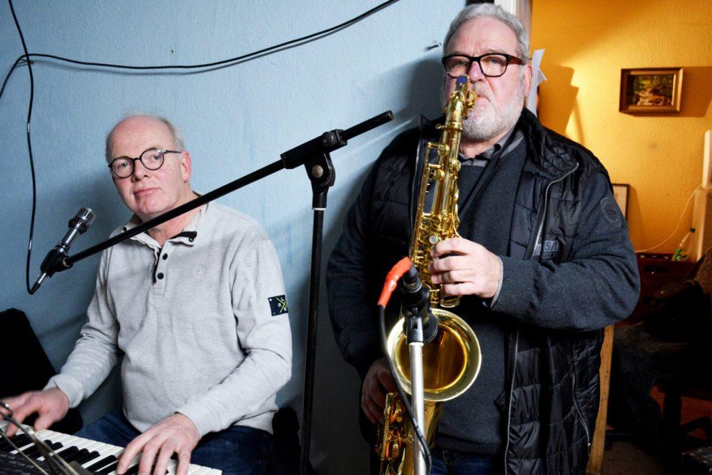 Keyboarder Paul Effing und Saxofonist Heinz-Theo Berendsen