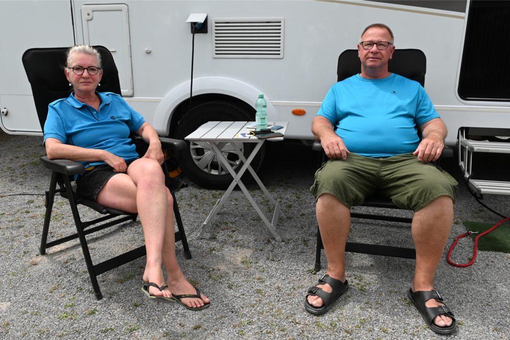 Christiane und Thomas Walenda waren zum ersten Mal auf dem Wohnmobilstellplatz in Dorsten.