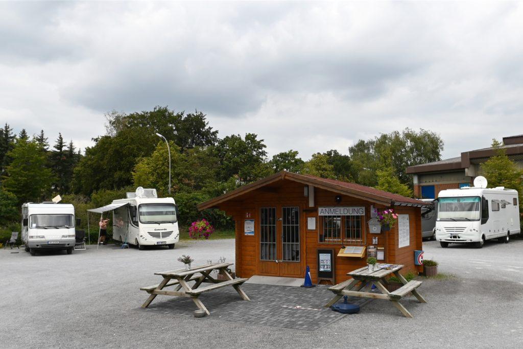 """Der Reisemobilhafen """"An der Lippe"""" ist seit Mitte Mai wieder gut besucht."""