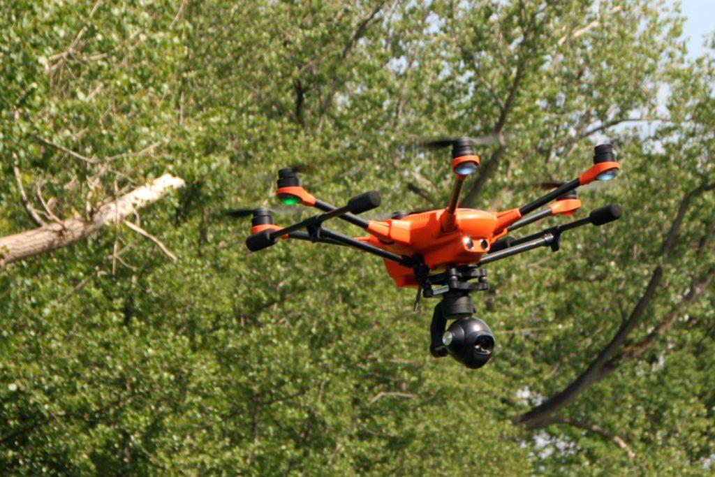 Diese Drohne hat sich die Stadt Stadtlohn angeschafft. Sie stellt sie dem Hegering zur Verfügung bei deren Suche nach Rehkitzen.