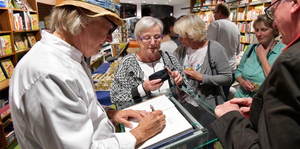 Veranstaltungen wie mit Gourmetkoch Franz Lauter im September 2019 soll es bald wieder in der Buchhandlung Bücher Beckmann in Werne geben.