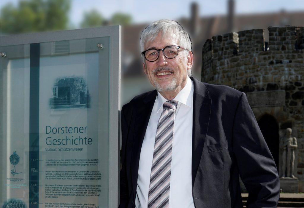 Peter Günther hat für den Lions Club Dorsten-Hanse und den Verein für Orts- und Heimatkunde die digitalen Geschichtsstationen entwickelt.