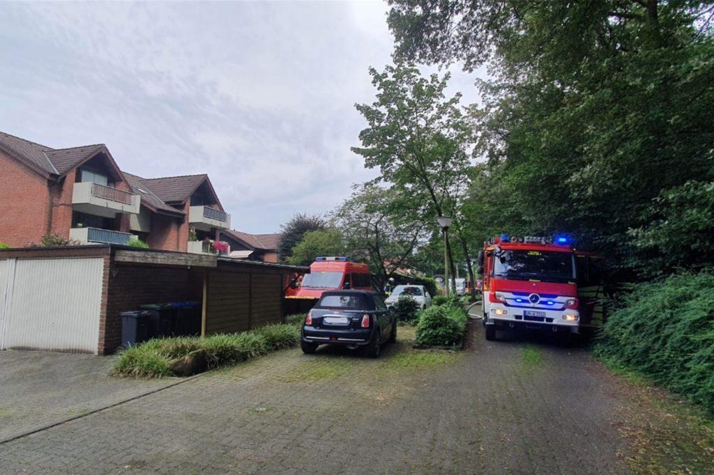 Die Theodor-Fontane-Straße in Werne war für ca. 45 Minuten voll gesperrt.