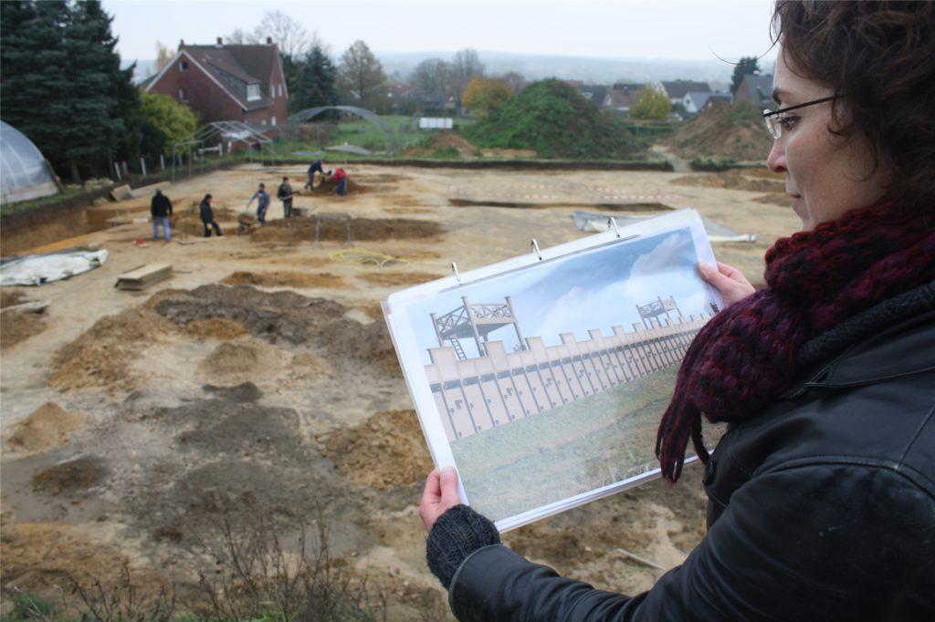 Schon 2013 begleitete Dr. Bettina Tremmel die Ausgrabungen vor der Errichtung des Westtores am Römermuseum.