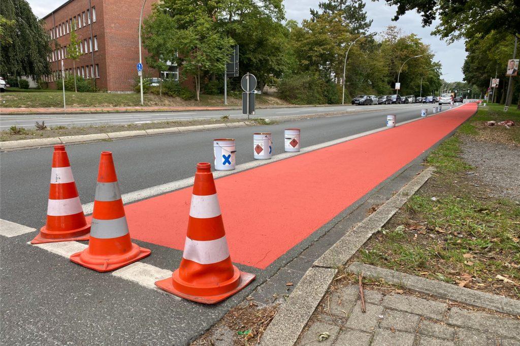 Auch das Stück zwischen Konrad-Adenauer-Platz und Penningrode wurde eingerichtet.