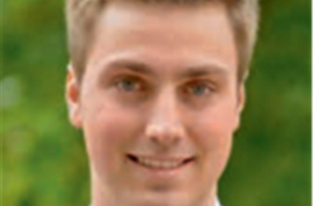 CDU: Nils Hillner, 22 Jahre, Student der Rechtswissenschaft