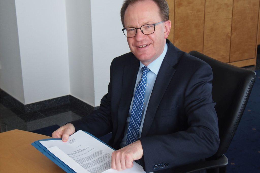 Ludger Suttmeyer ist Generalbevollmächtigter bei der fusionierten Volksbank Dortmund und Waltrop.
