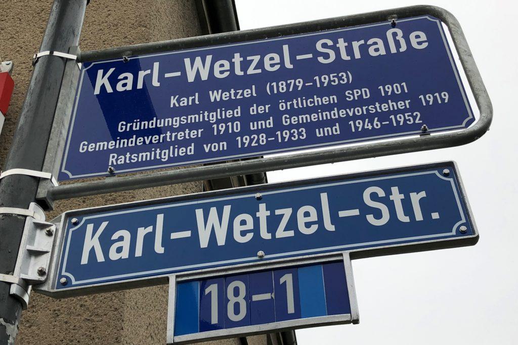 So sieht das neue Legendenschild an der Einmündung zum Karl-Wetzel-Weg vom Altwickeder Hellweg aus