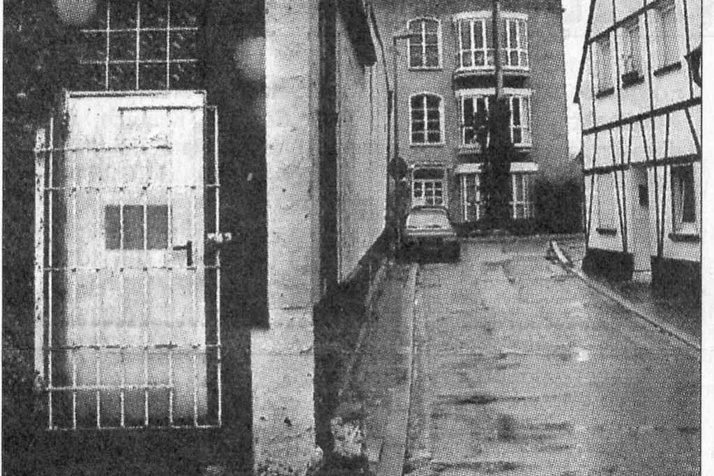 Dieses Foto aus einem alten Zeitungsartikel zeigt den Eingang der ehemaligen Diskothek in der Goldstraße.