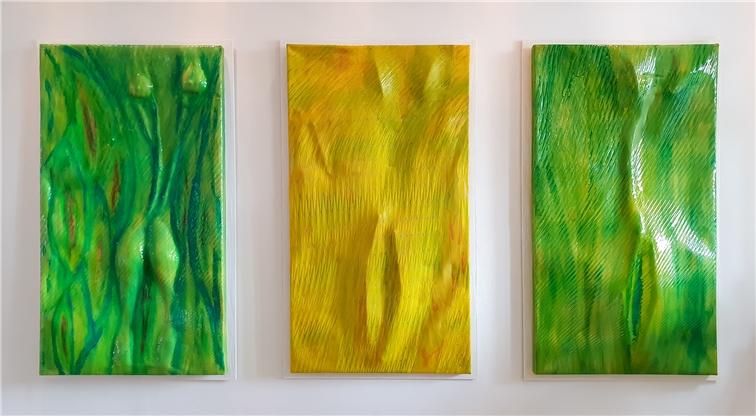 Kilian Saueressig arbeitet viel mit Farben.