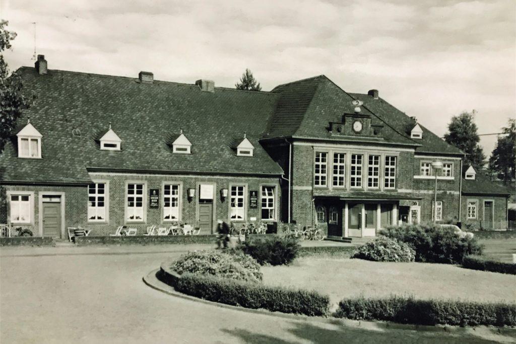 So sah der Werner Bahnhof früher einmal aus.
