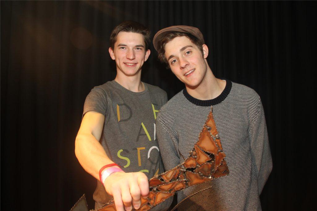 "Finn Buttgereit (li.) und Freddy Allerdisse gewannen als Duo ""2 Klang"" den Jugendkulturförderpreis 2013."