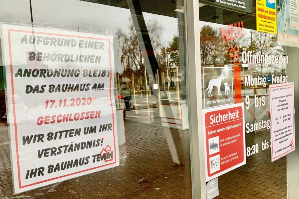 Der Baumarkt an der Schleefstraße bleibt geschlossen.