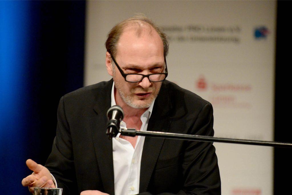 Martin Brambach, bekannt aus dem Dresdner Tatort, bei seiner Kinofest-Lesung 2015.