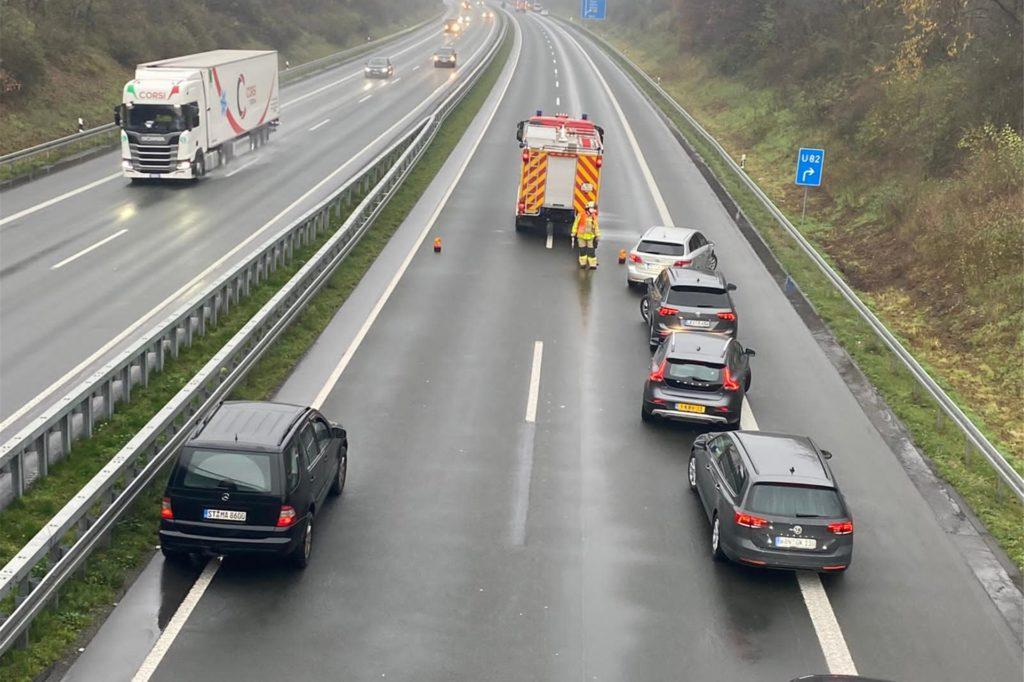 Die A 31 war in Richtung Bottrop etwa eine Stunde gesperrt.