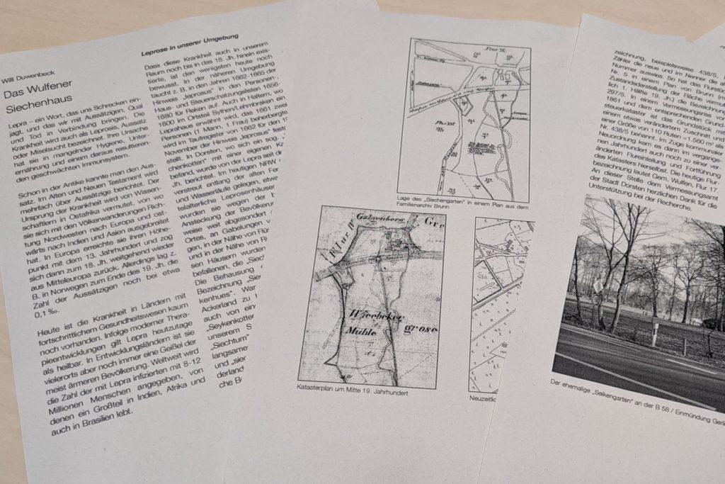 In einem Artikel für den Heimatkalender schrieb Wiilli Duwenbeck die Geschichte des Siechenhauses in Wulfen auf.