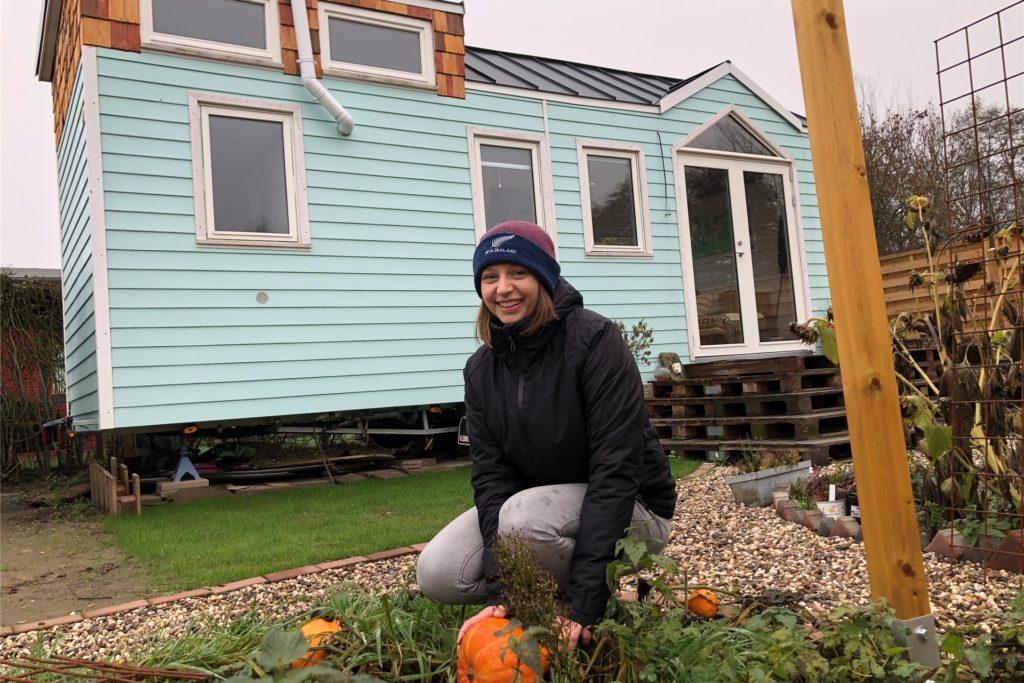 Stay at Home: Wegen der Coronapandemie hatte Kathi Wilmer viel Zeit für den Anbau von Kürbissen, Zucchini und Salat.