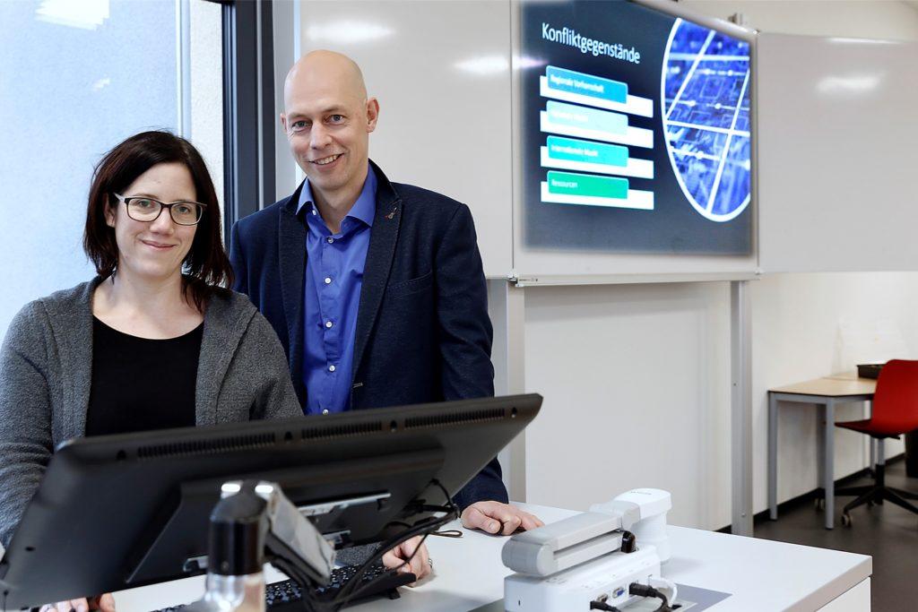 Kathrin Ollas und Matthias Bomba leiten die Halterner Dependence des Hans-Böckler-Berufskollegs.
