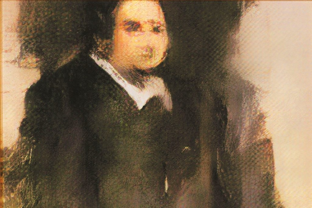 """Das """"Porträt von Edmond De Belamy"""" hat ein Computer gemalt. Es wurde für 432.500 Dollar versteigert."""