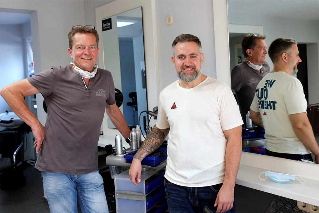 Jörg Schirmer und Mike Prinzen (hier ein Bild aus dem Archiv) dürfen ihren Salon am 1. März wieder öffnen.