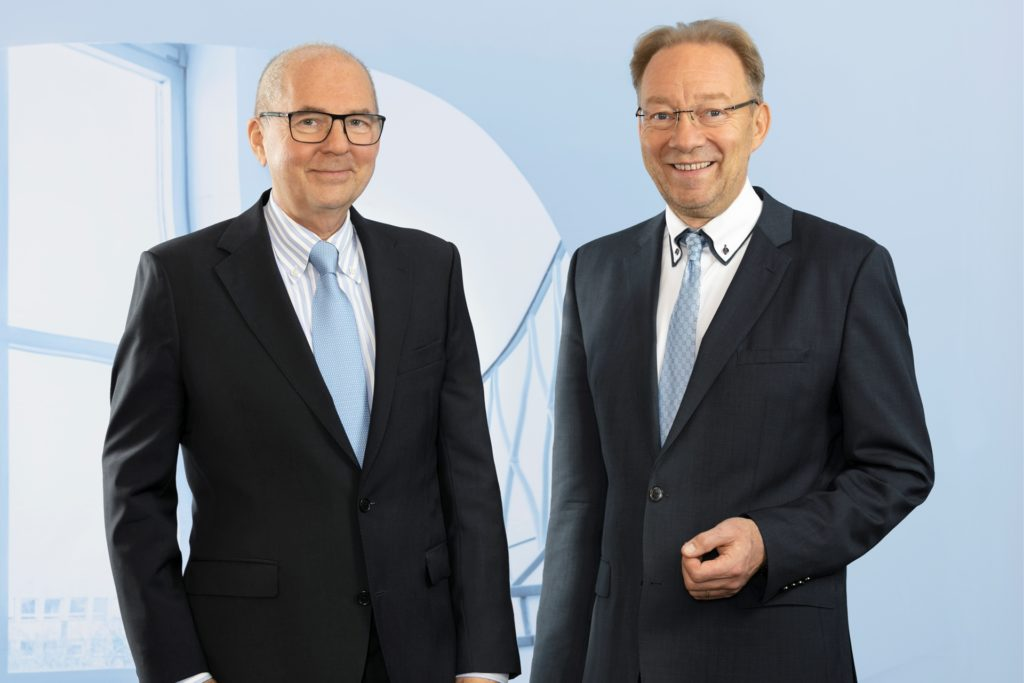"""IHK-Präsident Heinz-Herbert Dustmann (l.) und IHK-Hauptgeschäftsführer Stefan Schreiber sehen wachsenden Frust in der Dortmunder Wirtschaft: """"Viele Unternehmen stehen vor der Insolvenz."""""""
