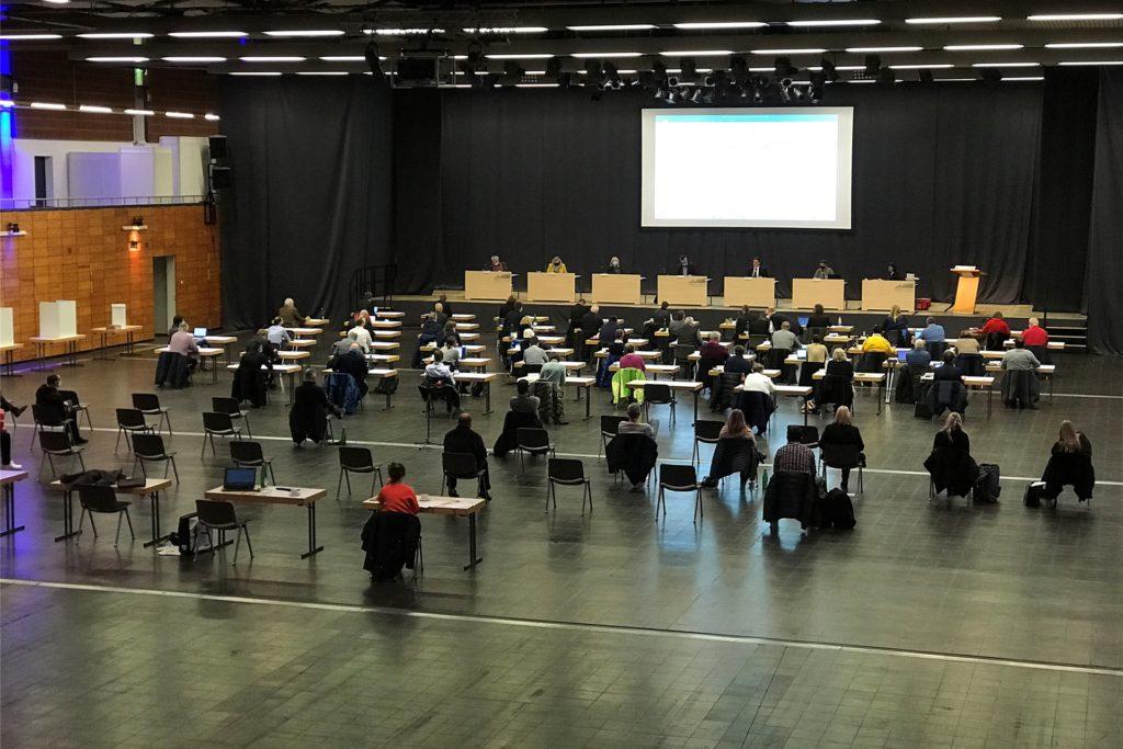 Der Stadtrat in Castrop-Rauxel wird auch an diesem Donnerstag wieder an ungewohnter Stelle in der Europahalle tagen.