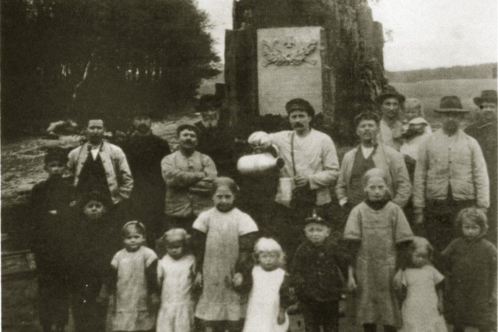 Das Ehrenmal in Hullern vor 1890