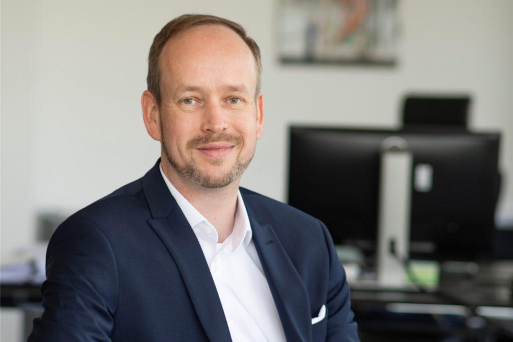 Martin Wibbe, der Vorstandsvorsitzende der Materna SE in Dortmund