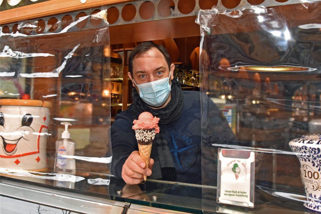Mauro Borsoi (44) hat das Eiscafe Cordella in Scharnhorst Anfang des Jahres übernommen.