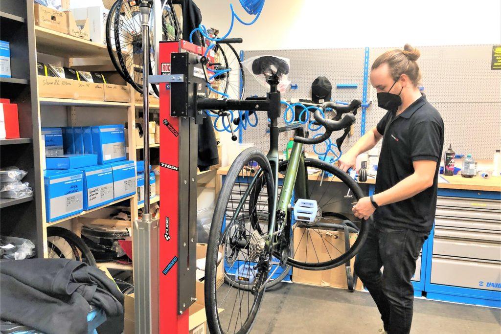 Während des Lockdowns sind Wartung und Reparatur der Kunden-Fahrräder erlaubt.