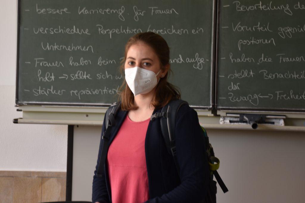 Simone Birkholz ist Lehrerin und Stufenkoordinatorin der Q1. Sie ist froh über die Rückkehr der Schülerinnen und Schüler.