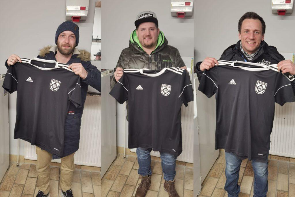 Der SV Hullern verstärkt sich mit (v.l.) Daniel Diekmann, Dominik Warnat und Kay Trzaskawka.