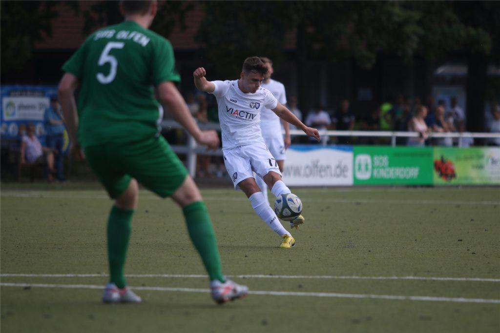 Luca Bernoth wechselte 2018 aus der Jugend von Fortuna Düsseldorf zum TuS Haltern am See.