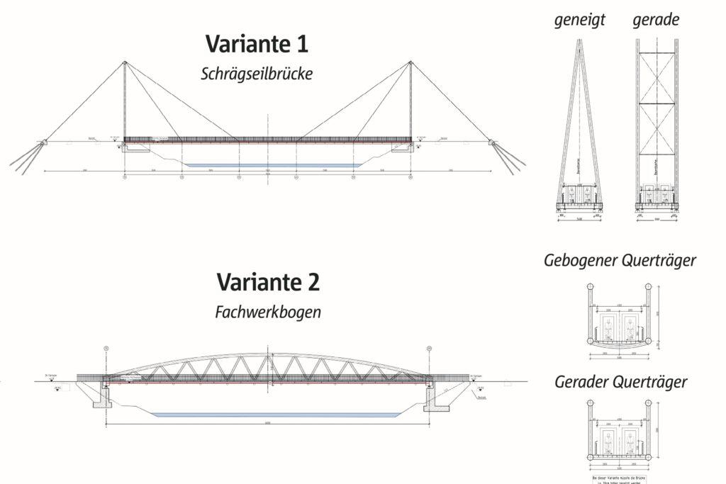 Das sind die beiden Varianten, die jetzt im Ausschuss Bauen und Digitales  vorgestellt wurden.