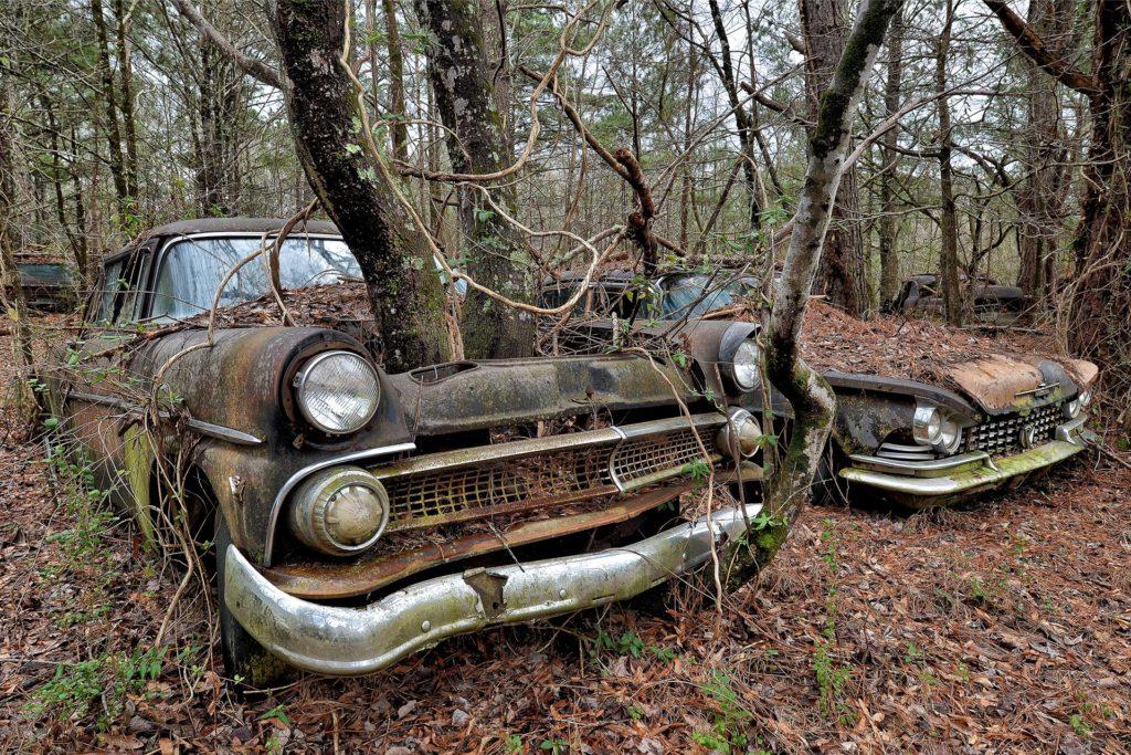 Vergessene Autos sind ein Lieblingsmotiv des gelernten Kfz-Mechanikers.