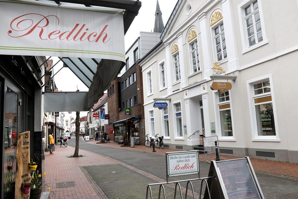 Für den Einzelhandel in Haltern, wie hier an der Merschstraße, gelten wieder neue Bestimmungen.