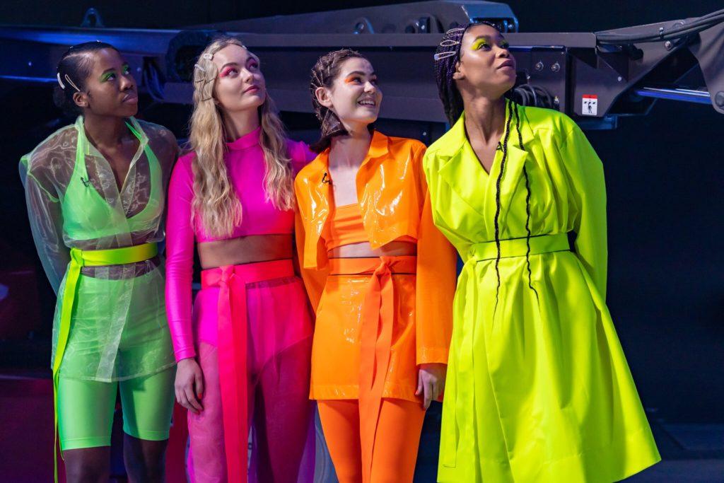 Elisa aus Dortmund (2. von links) musste sich bei Germany's Next Topmodel gegen (v.l.) Ashley, Linda und Liliana durchsetzen.