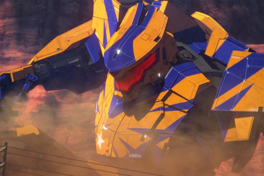 """Der Animationsfilm """"Pacific Rim – The Black """" erzählt vom zwei Geschwistern, die sich mit Hilfe eines Kampfkolosses gegen Monster verteidigen müssen."""
